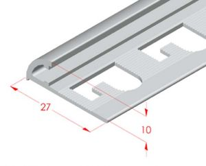 Corner and finishing aluminum profile
