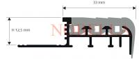 ПРОТИВОПЛЪЗГАЩ ПРОФИЛ  ЗА СТЪПАЛА ОТ PVC С ГУМЕНА ВЛОЖКА H12.5 mm