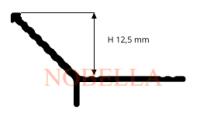 Y-ОБРАЗНА АЛУМИНИЕВА ЪГЛОВА ЛАЙСТНА   12,5 мм.
